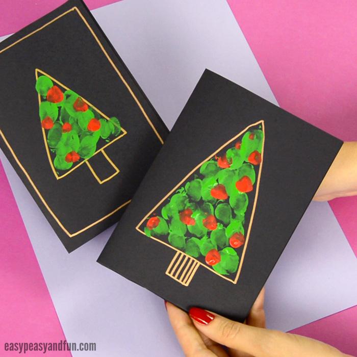 Fingerprint Christmas Tree Card