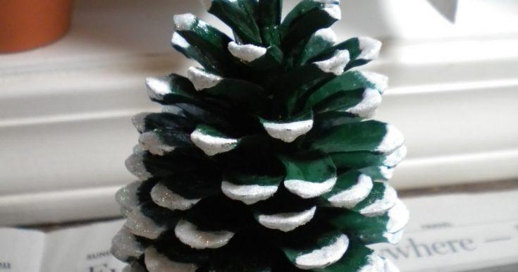 Tutorial: Pine Cone Christmas Tree