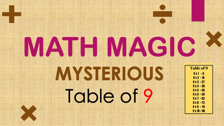 Tricks to Memorize Math Tables – Mysterious 9