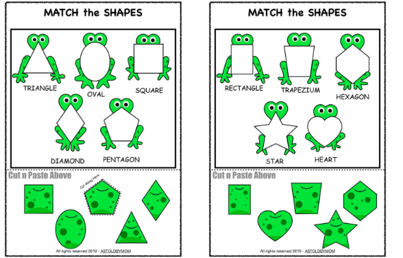 Frog Theme Shape Sorting Activity – 10 Posters