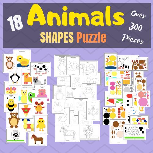 Shape Crafts – Animal Puzzles