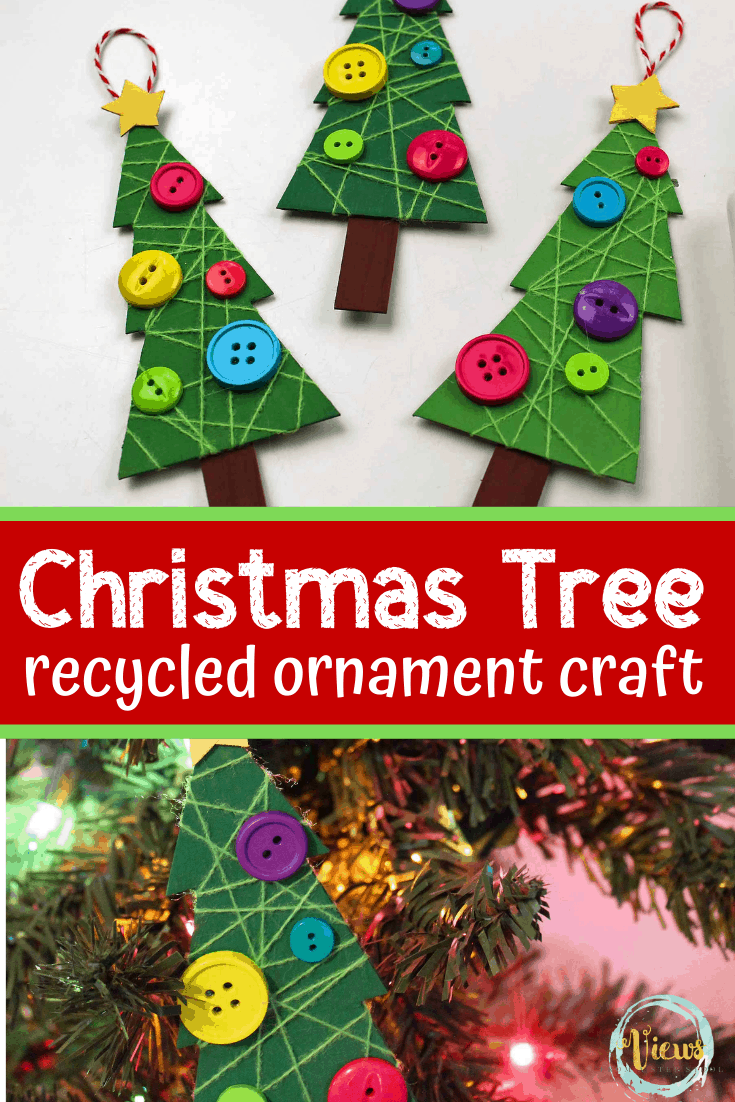 Recycled Christmas Tree Ornament Craft for Kids