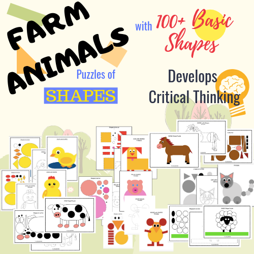 Vehicles with SHAPES. Cut and Paste Puzzle Craft Activity. An excellent activity and a fun math center for Transportation theme for Preschools, Kindergarten, First or Second grade or Homeschool kids.