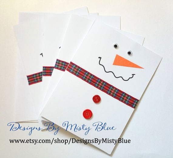 Once Featured In First For Women Magazine - Snowman Christmas Greeting Card - Holiday Hanukkah Birthday