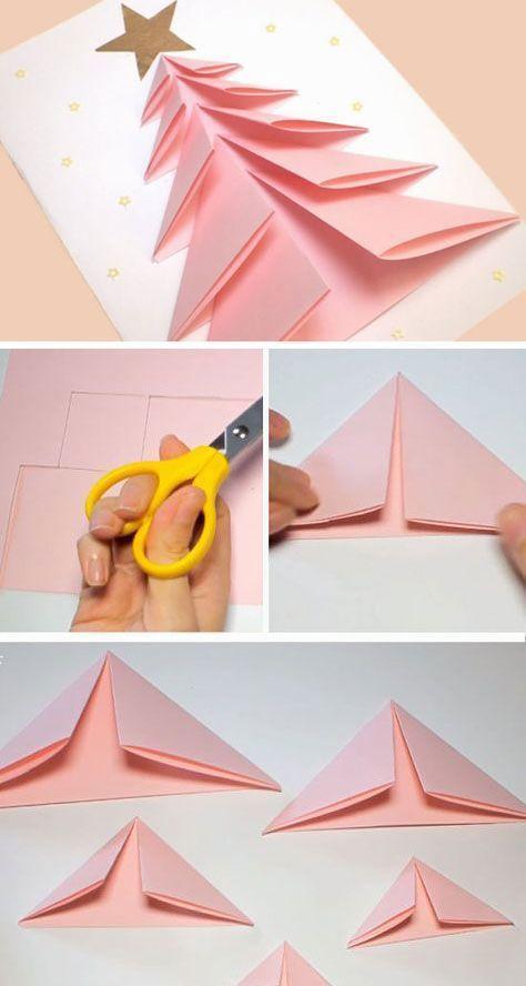 DIY Christmas Card Ideas for Families – 3D Christmas Tree Card
