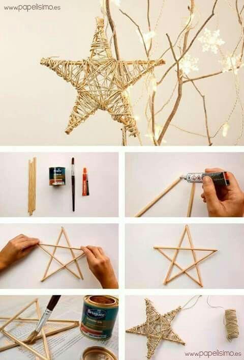 DIY Twine Star Christmas Tree Topper