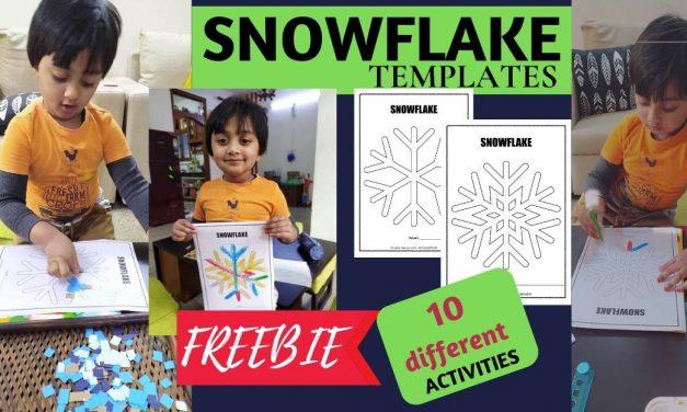 FREE Snowflakes Templates – 10 Activities