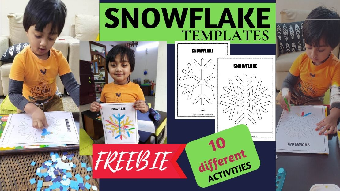 FREE Snowflakes Templates – 10 Activities