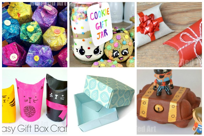 DIY Gift Box Ideas - Red Ted Art