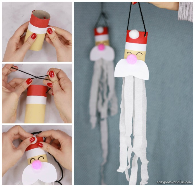 Santa Windsock Toilet Paper Roll Craft