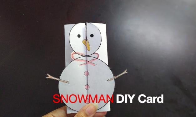 Foldable Snowman Card