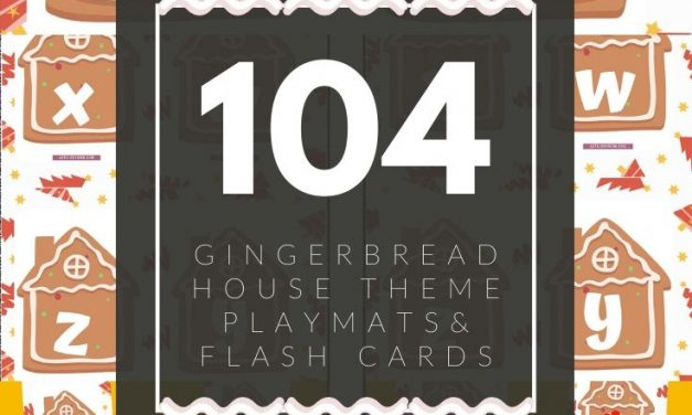 Gingerbread House Alphabets Flash Cards & Playmats