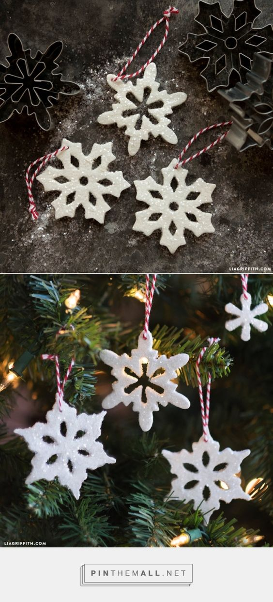 #ClayOrnaments #Snowflake #DIYOrnaments www.LiaGriffith.com... - a grouped images picture
