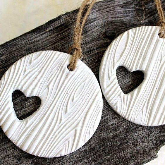 Handmade Woodgrain Tree Ornaments