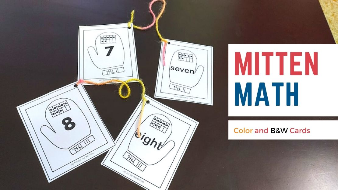 Match the Mittens – Counting, Number Names, Tally Marks
