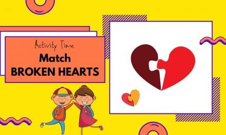Match Broken Hearts – Preschool, Kindergarten activity