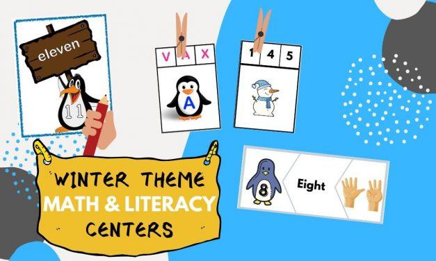 Winter Theme Math & Literacy Centers