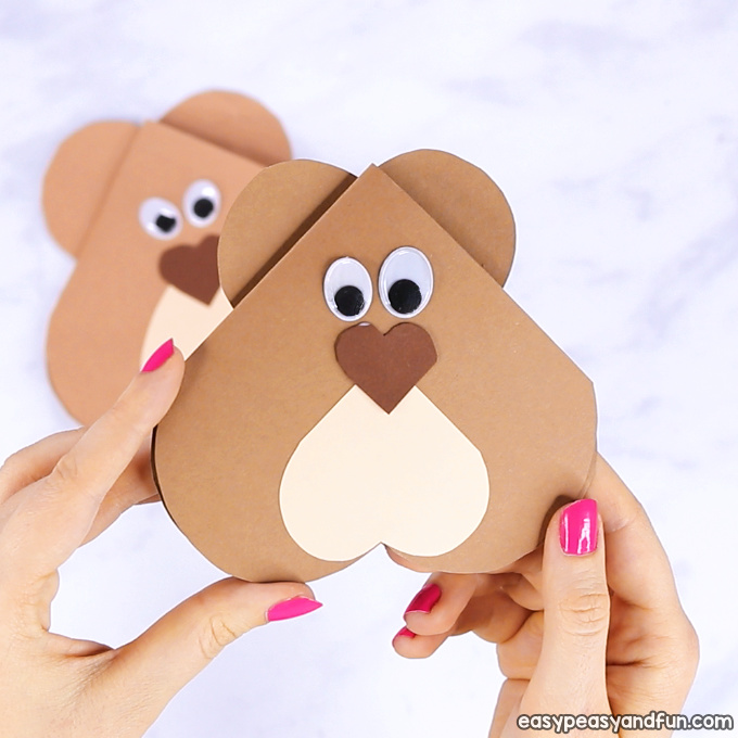 Heart Bear Craft – Valentines Day Card Idea