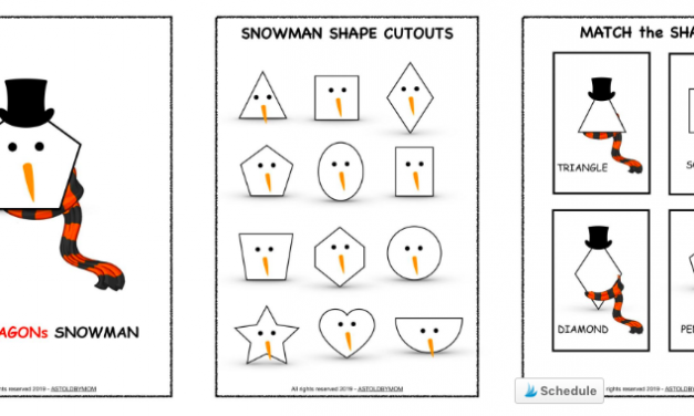 Snowman Shape Sorting Activity