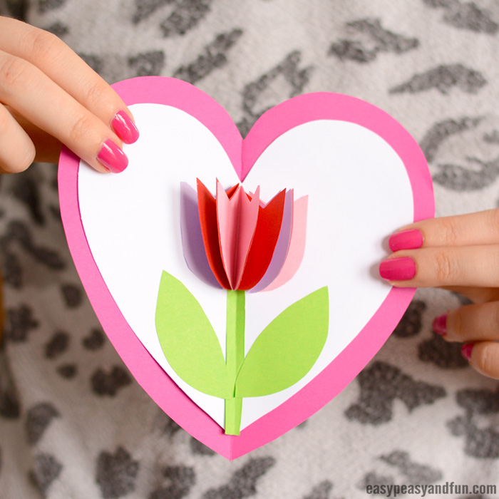 Tulip in a Heart Card