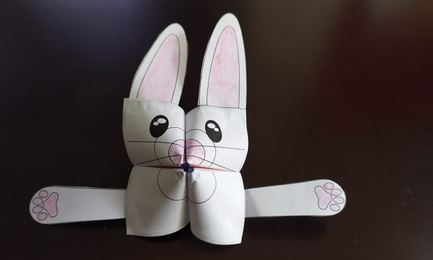 Bunny Cootie Catcher & Fortune Teller Paper Crafts