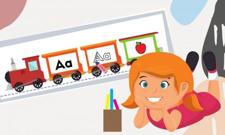 FREE Train Themed – Alphabets Reading, Writing & Phonics Practice