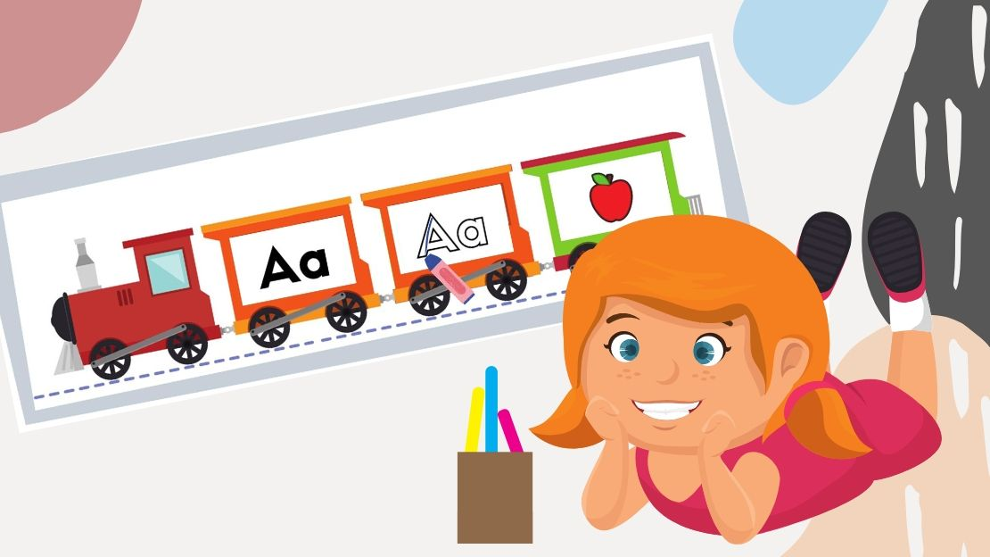 FREE Train Themed – Alphabets Reading, Writing & Phonics Practice
