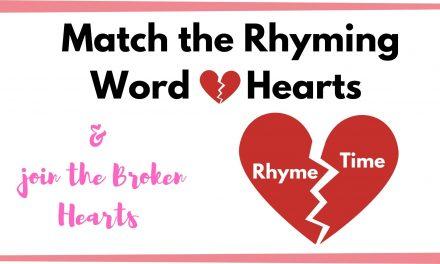 Heart themed Rhyming Words