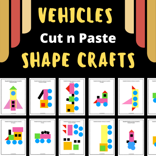 Shape Crafts – Build Your Own Vehicles Puzzles