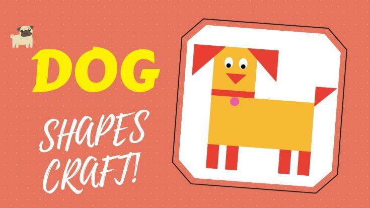 Cut and Paste Shape Puzzle - No Preparation DOG Craft