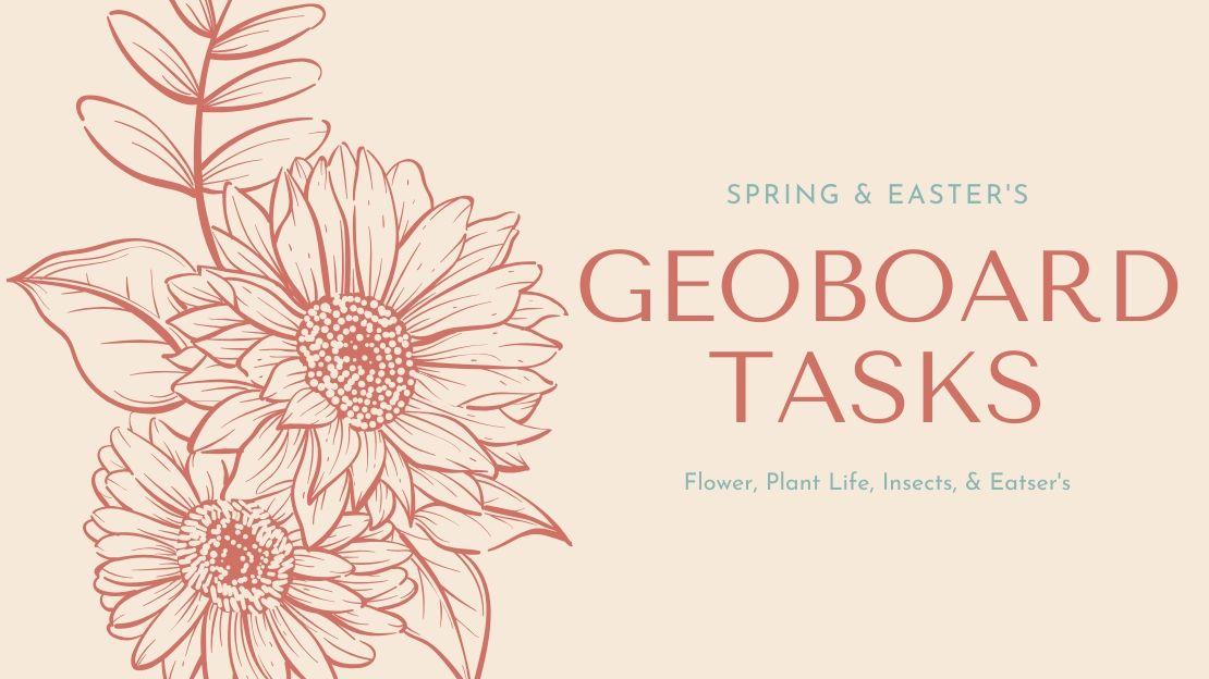 Geoboard Task Cards – Spring & Easter