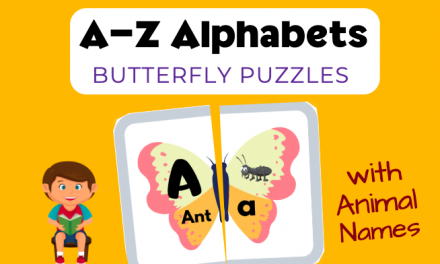 Butterfly Puzzles – Alphabets with Animal Names