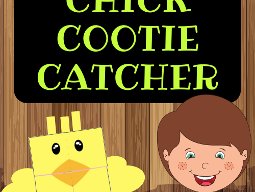 CHICK Cootie Catcher – Fortune Teller Paper Crafts